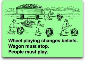 Square Wheel Playing haiku