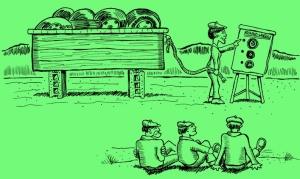 Brainstorming easel pad green