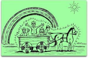 Rainbow Wagon green 70