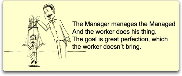 manager puppet poem