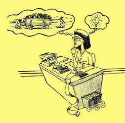 desk is dangerous female yellow