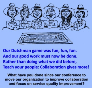 collaboration cartoon and poem on followup