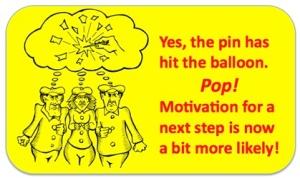 Pop - pin hits balloon words border