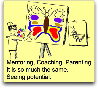 Square Wheels image of Mentoring Change Haiku