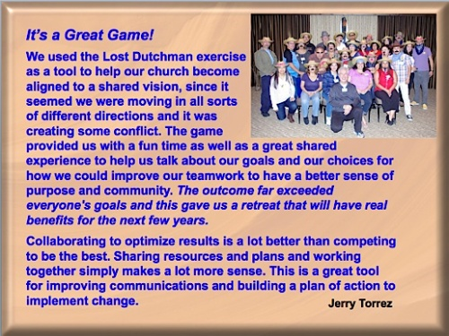 testimonial on The Search for The Lost Dutchman's Gold Mine teambuilding game