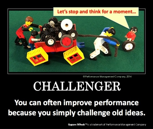 Square Wheels LEGO Poster of Challenger to decisions