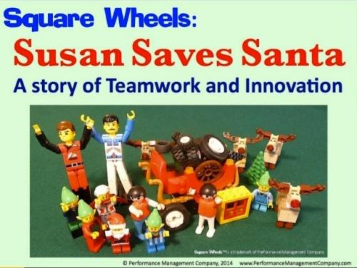 Santa LEGO Square Wheels storyboard
