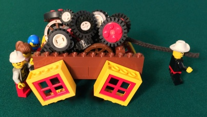 Square Wheels One LEGO Main Image in LEGO by Scott Simmerman