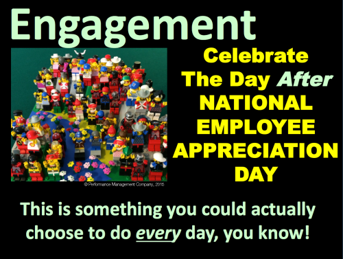 Celebrate the day after the day of employee appreciation
