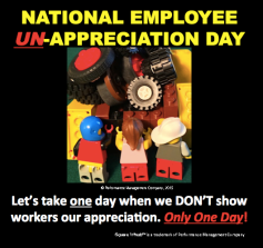 poster of making every day a day of appreciating employees