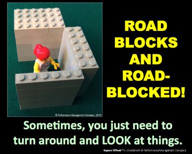 Square Wheels LEGO POSTER Roadblocked