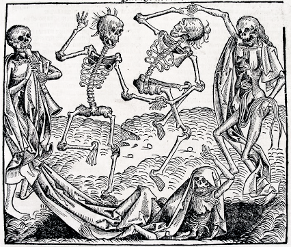 This cartoon was done in 1493 for the Black Death Plague