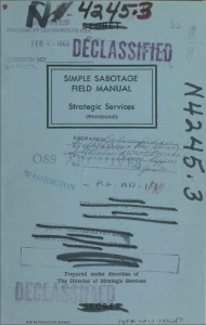 An official publication of the US Army in how to sabotage