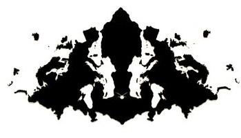 typical Rorschach inkblot image