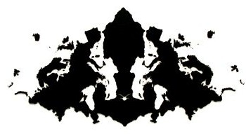 typical Rorschach inkblot image
